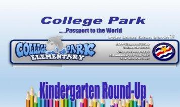 Kindergarten Round Up Photo